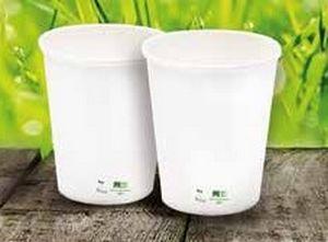 Vasos ecológicos Bio Eco Papel Blanco