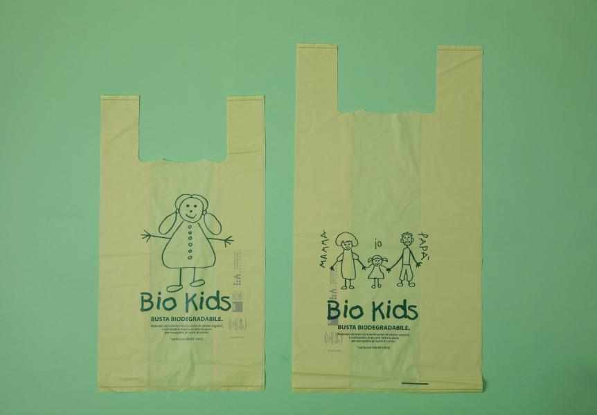 Bolsa Camiseta verde biodegradable